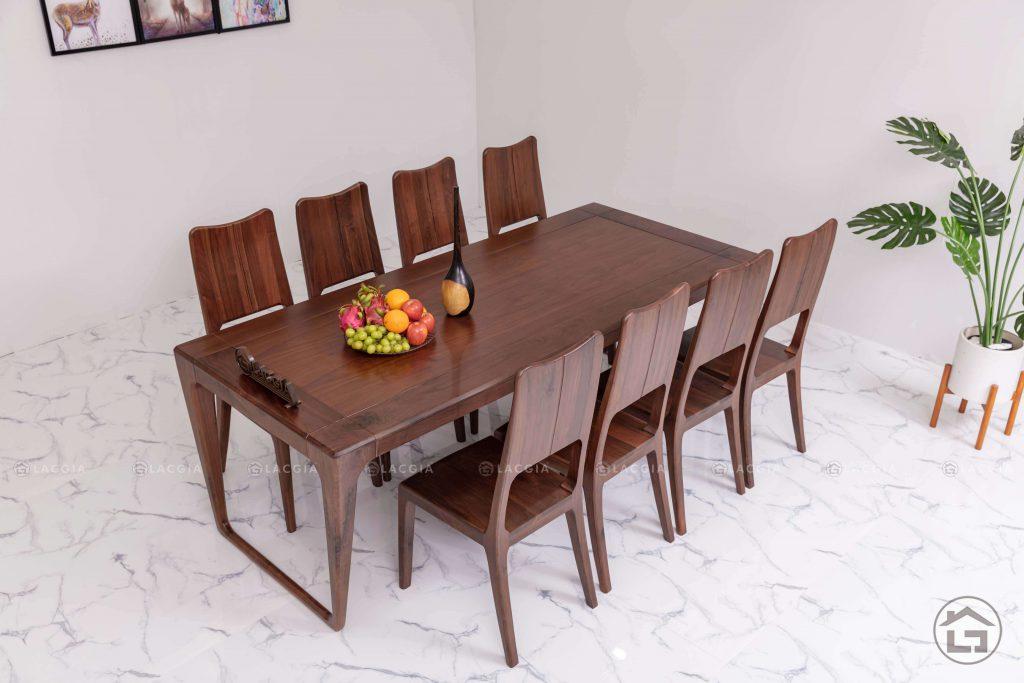 Bàn ghế ăn gỗ tự nhiên BA18