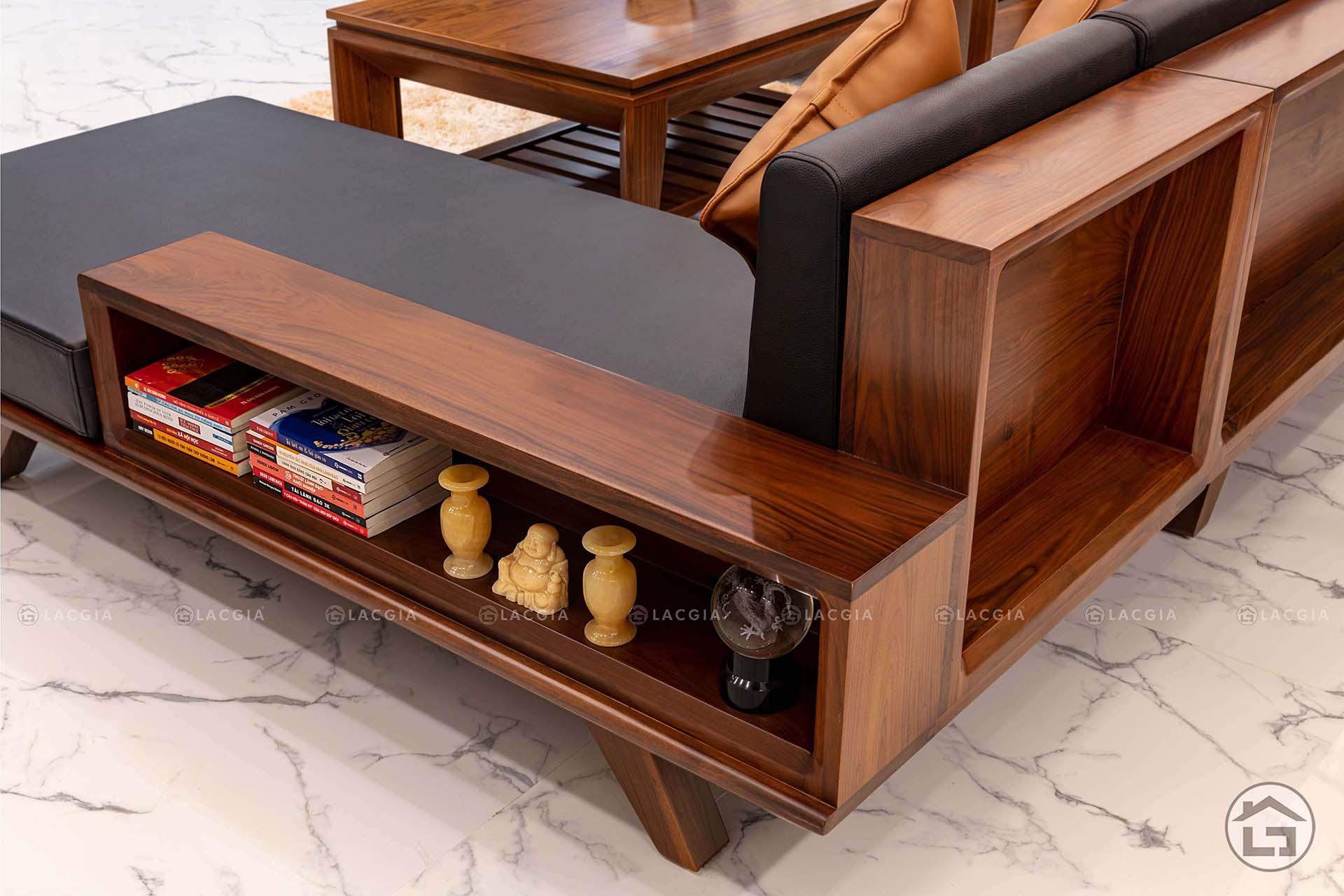 Sản phẩm sofa chữ L dễ tháo lắp, di chuyển và sắp xếp theo ý muốn