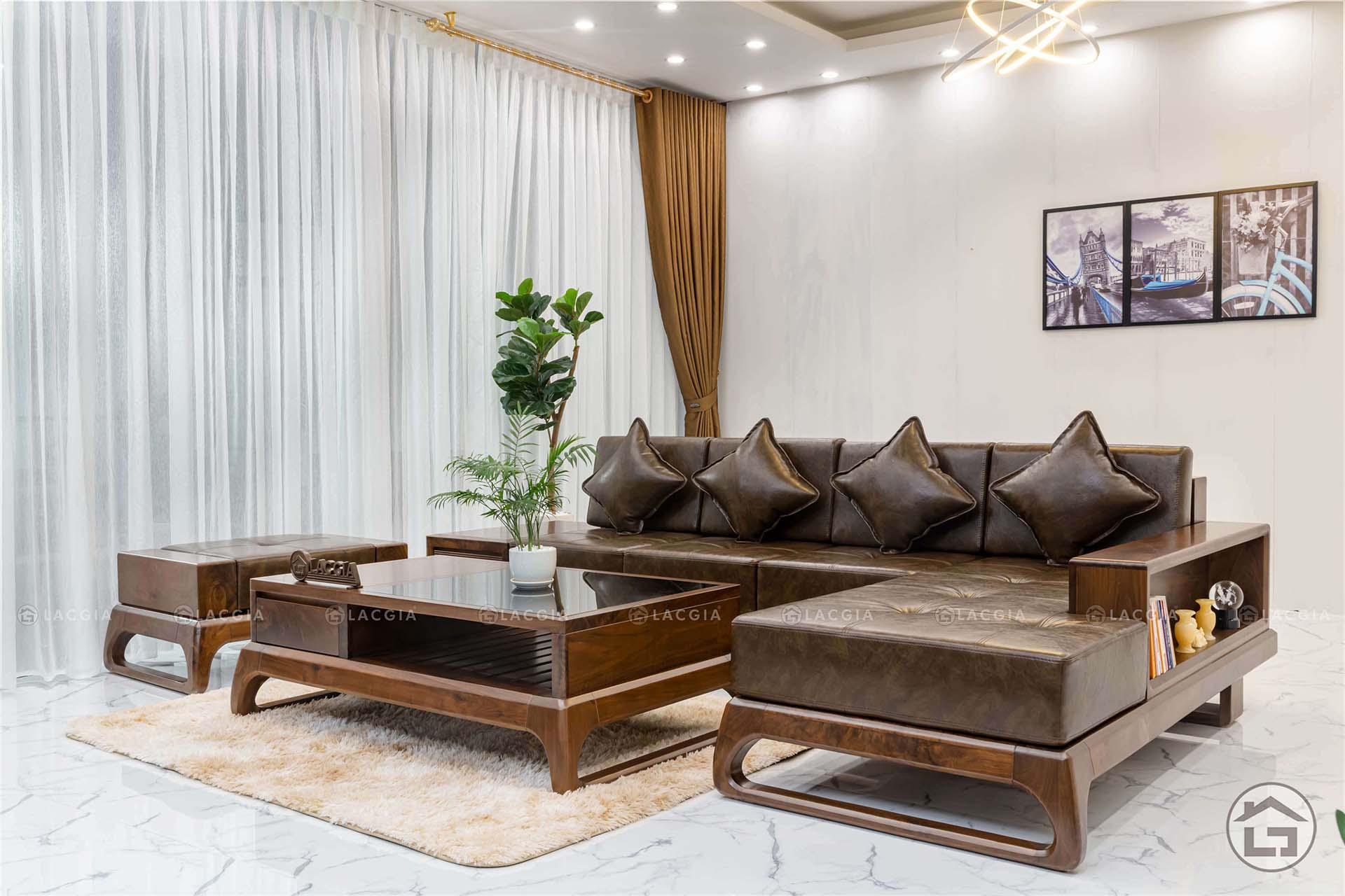 sofa gỗ Thạch Thất