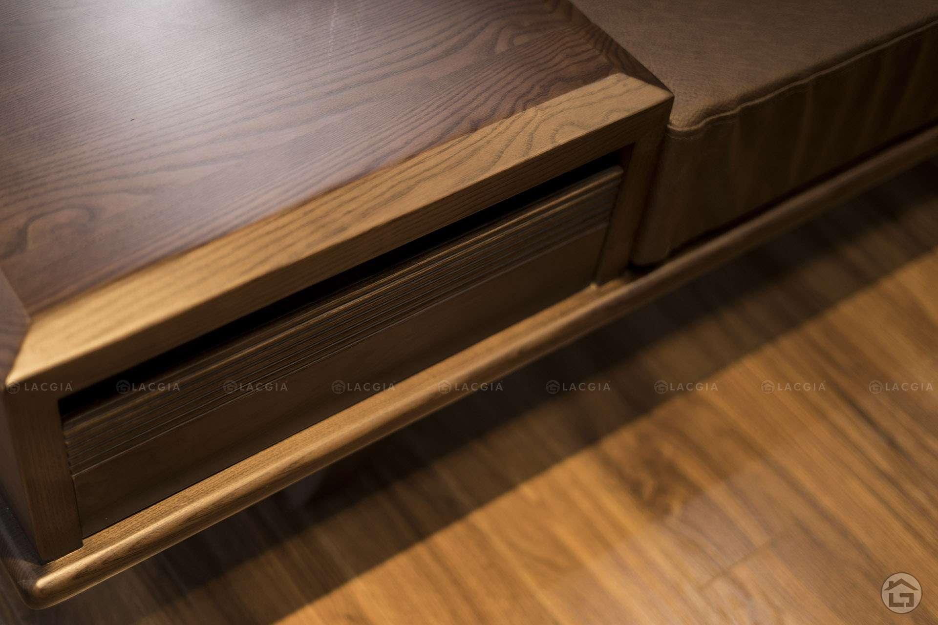 Sofa gỗ đẹp hiện đại cho phòng khách chung cư