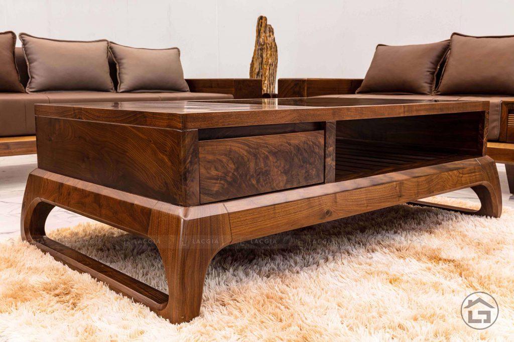 Mẫu sofa gỗ óc chó hiện đại SF28