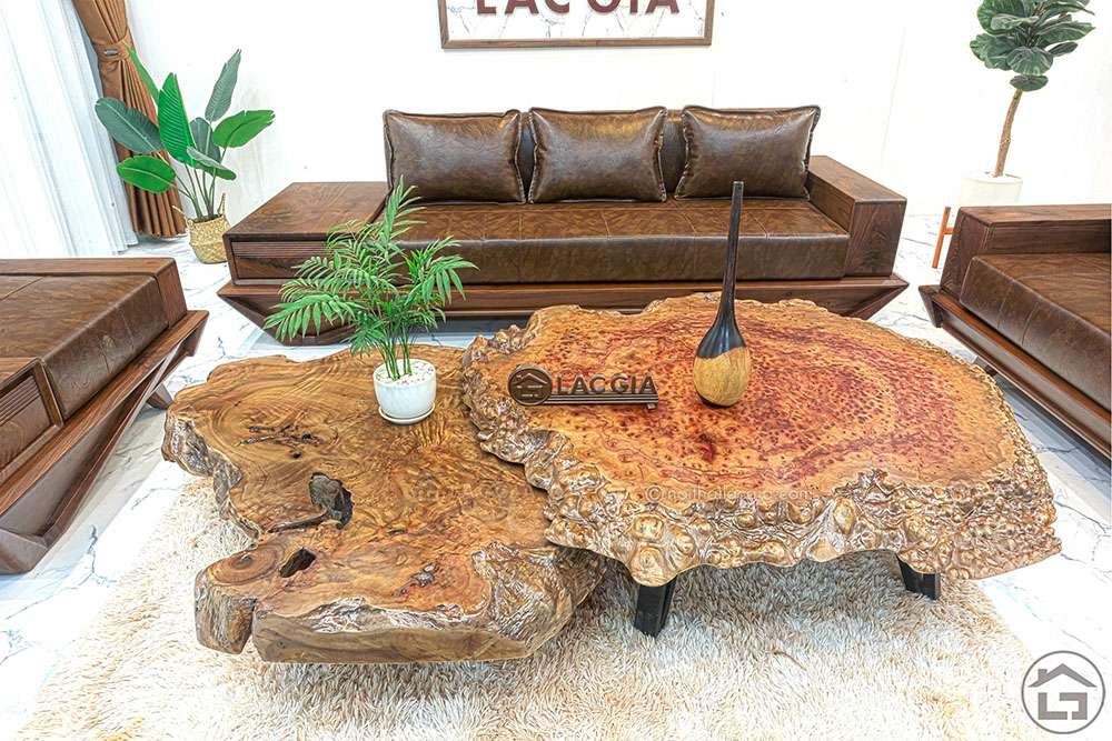 Mặt bàn trà nguyên tấm gỗ xá xị