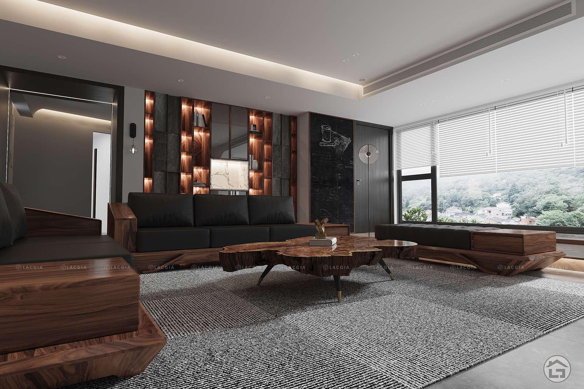 Sofa gỗ cao cấp SF29