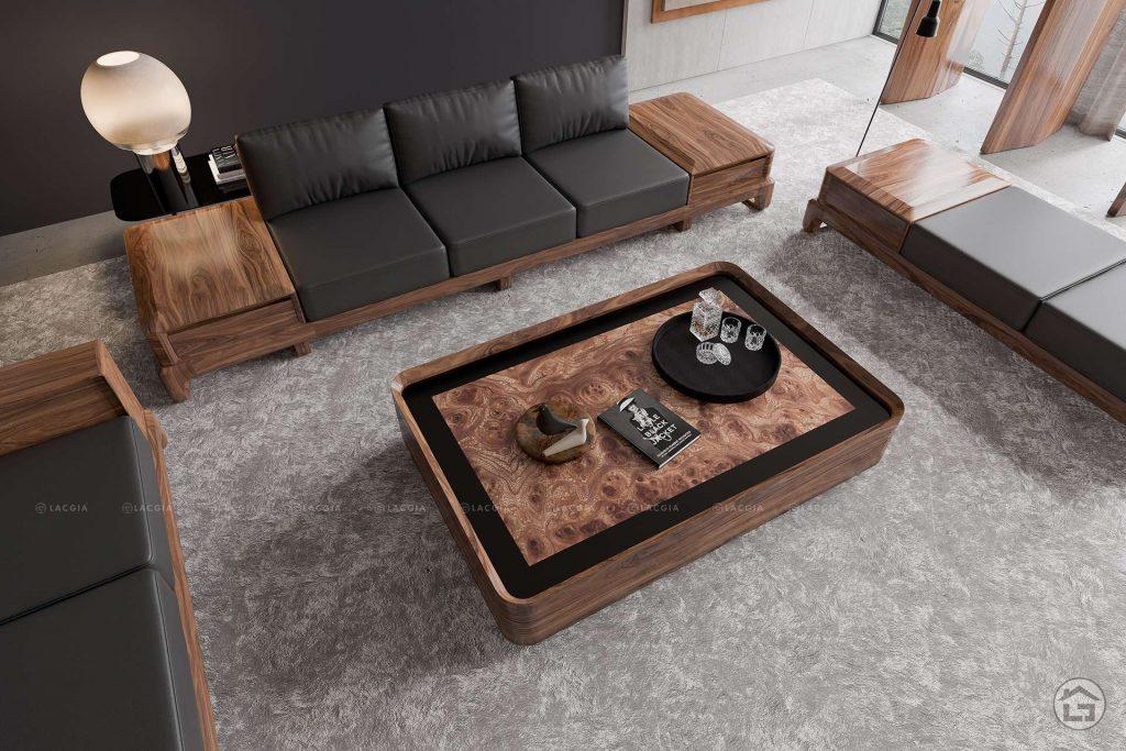 Sofa gỗ óc chó hiện đại SF28 Plus