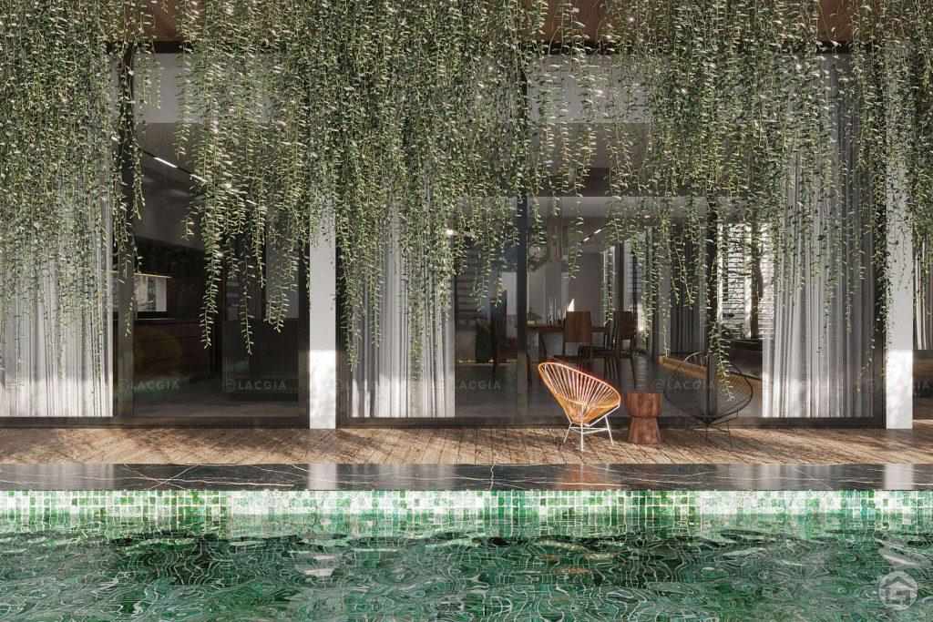 Thiết kế nội thất biệt thự sân vườn Ecopark