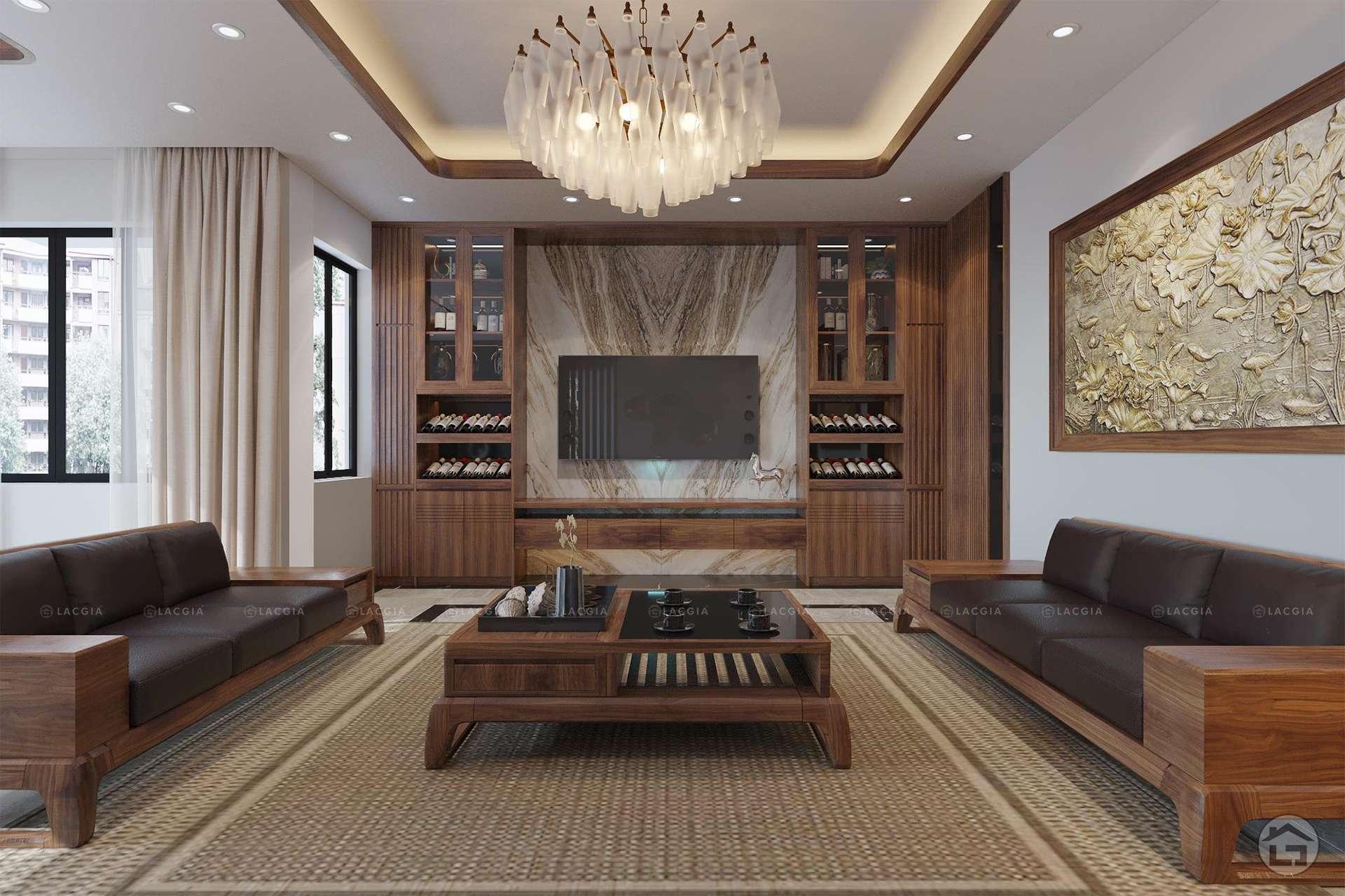 Mẫu thiết kế nội thất phòng khách tại Bắc Giang