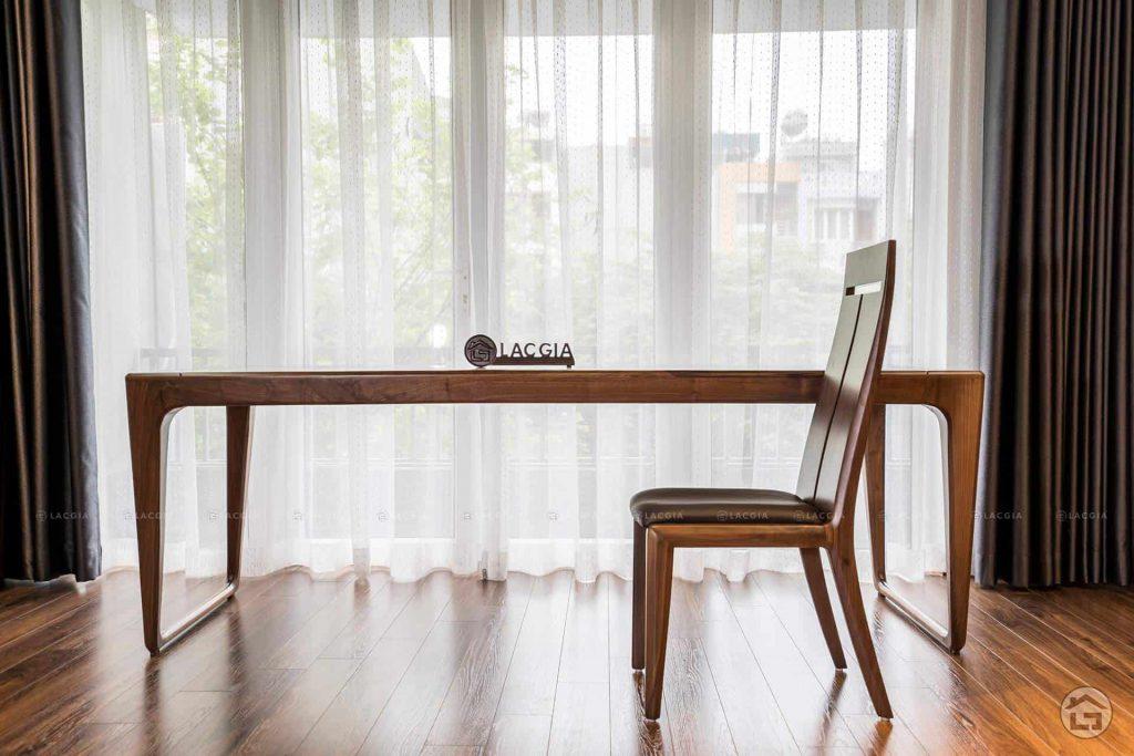 Bàn ghế ăn gỗ sang trọng BA19