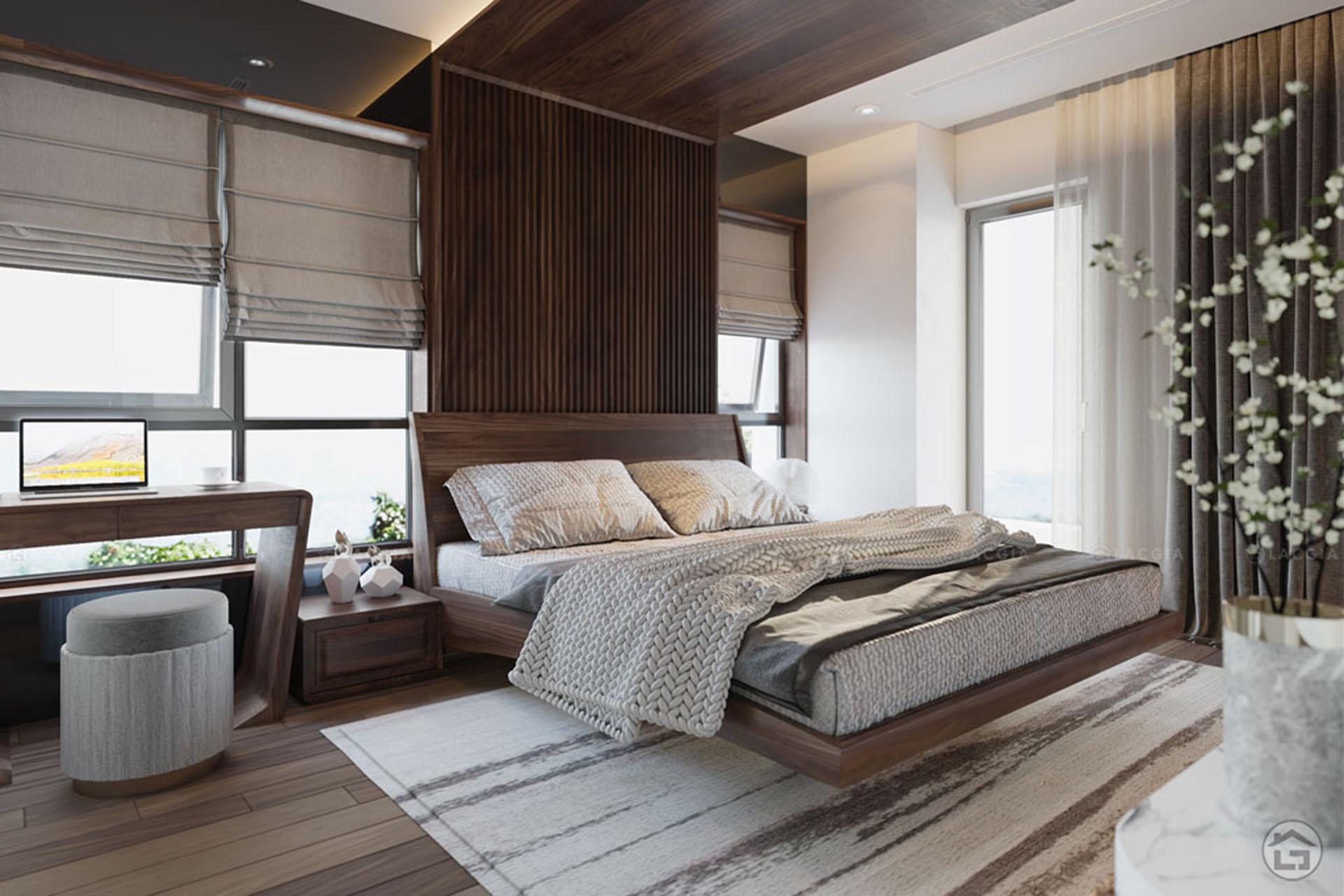 Giường ngủ gỗ đẹp GN19