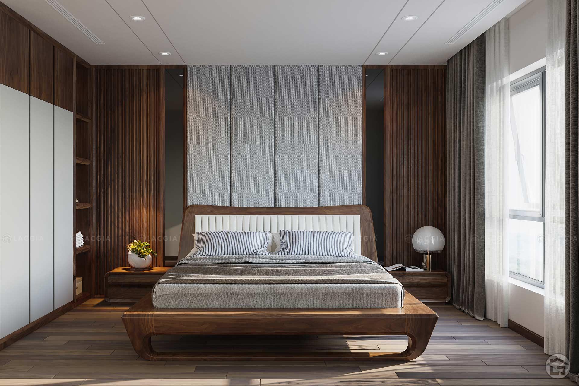 Giường ngủ gỗ tự nhiên hiện đại GN18
