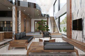 Mẫu thiết kế nội thất biệt thự Ecopark 200m2 hiện đại