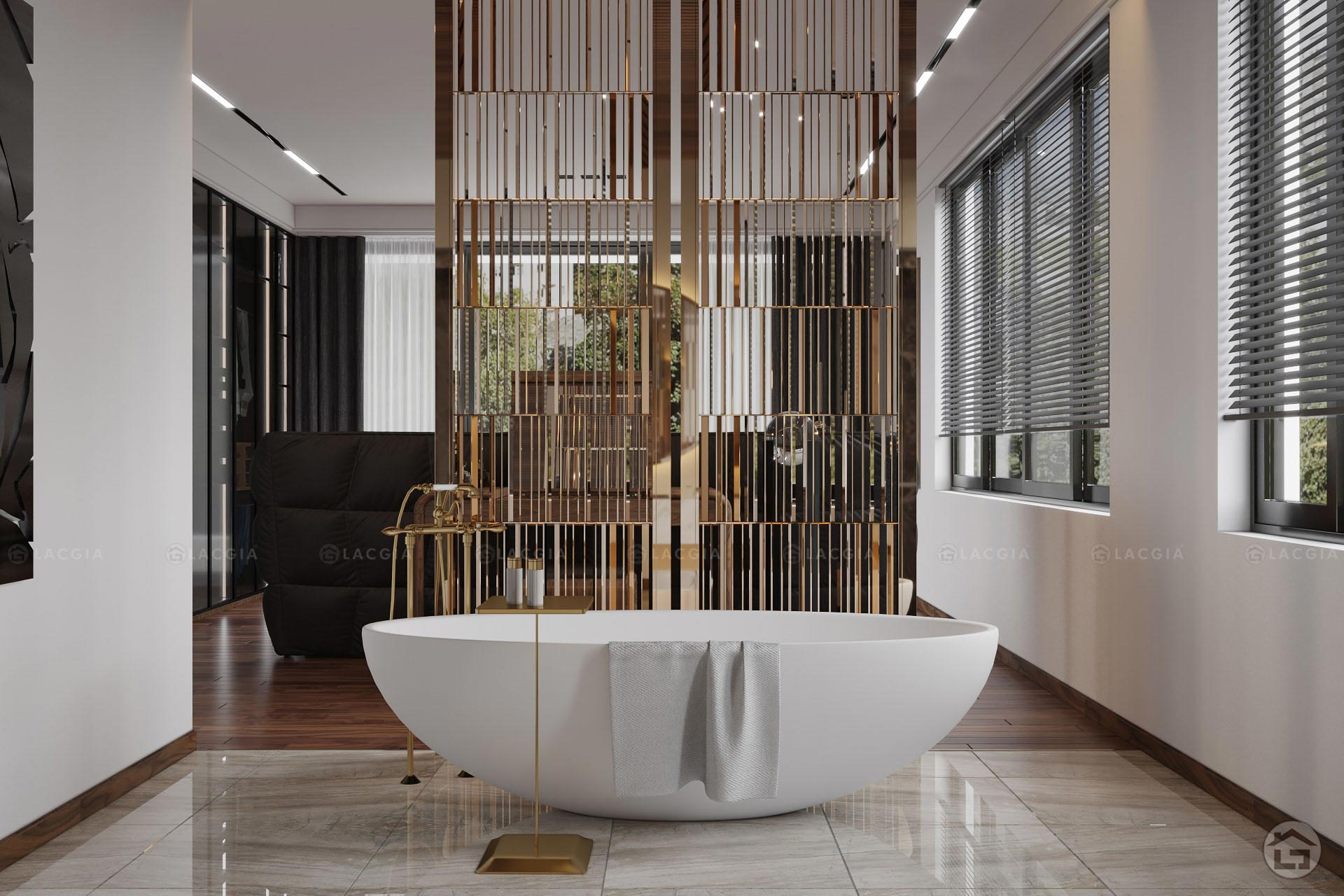 Nội thất phòng tắm biệt thự tiện nghi và hiện đại