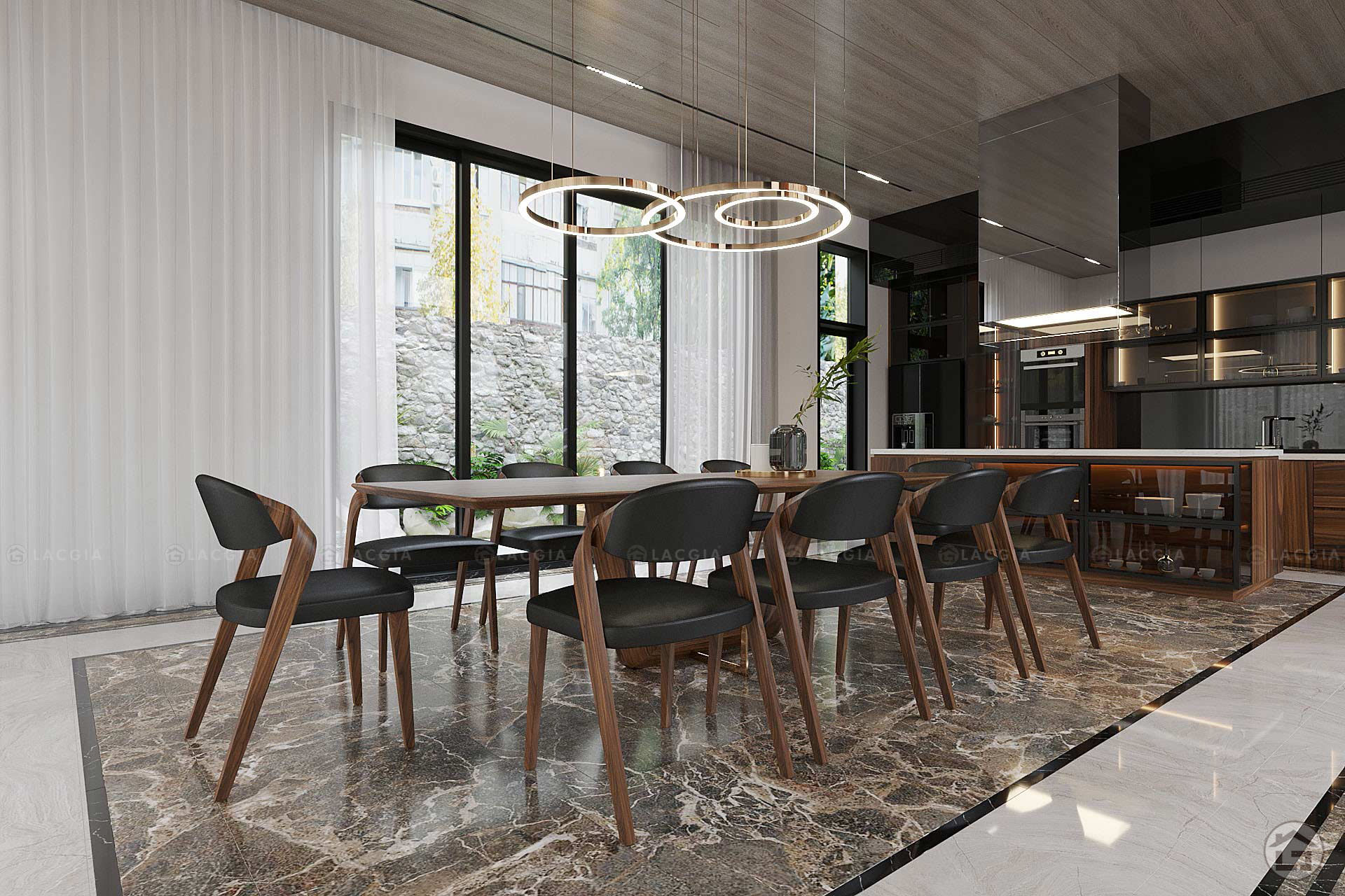 Các món đồ nội thất gỗ được kết hợp hài hòa với nhau