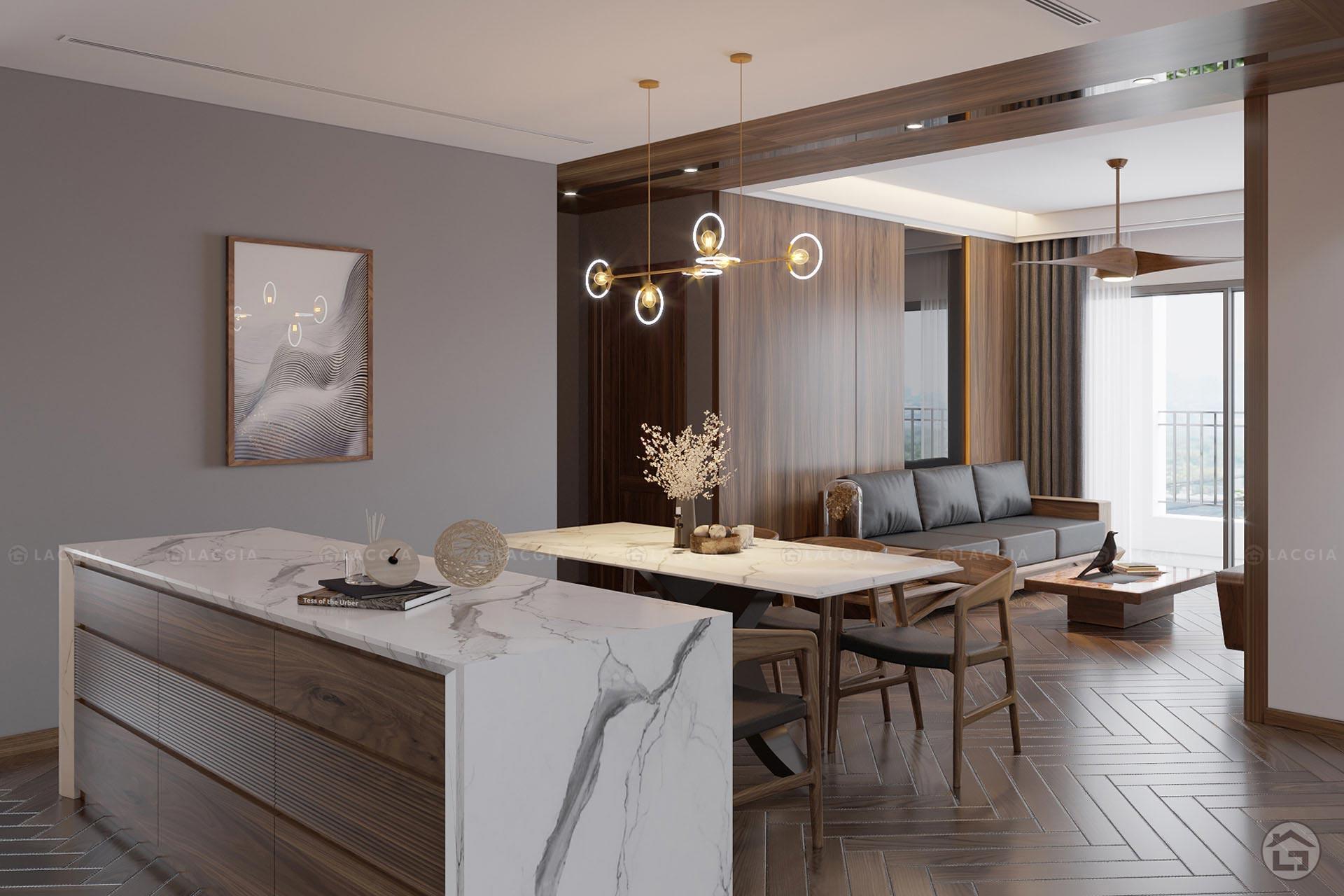 Dự án thiết kế nội thất chung cư cao cấp King Palace 124m2 3PN