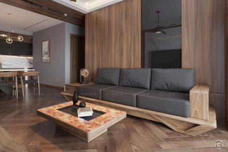 Dự án thiết kế nội thất chung cư cao cấp King Place 124m2 3 phòng ngủ