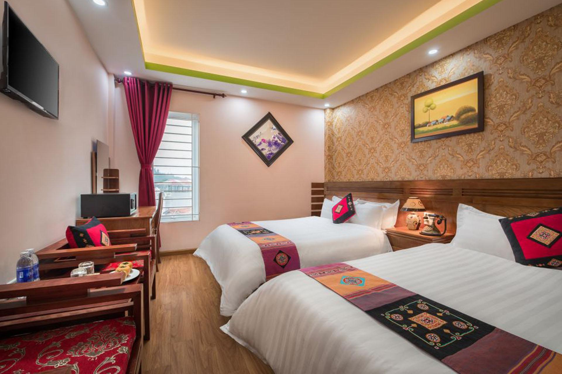 Phân chia không gian hợp lý giữa nội thất và giường ngủ