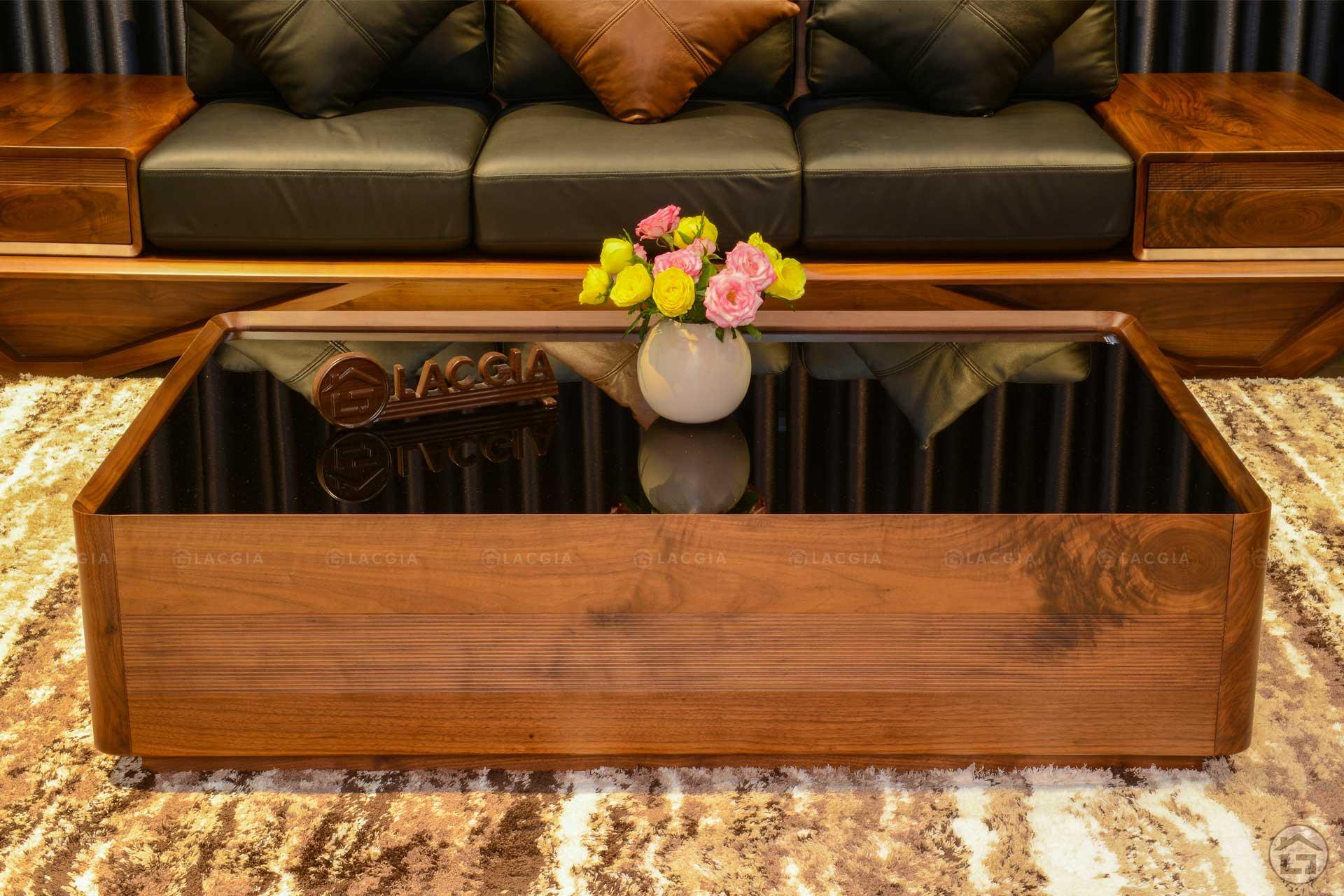 Sofa gỗ óc chó sang trọng SF29