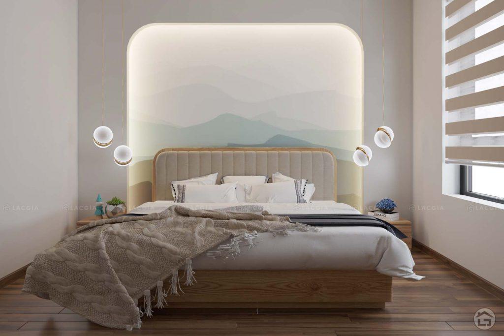 Lối thiết kế nhẹ nhàng, tinh tế của mẫu phòng ngủ hiện đại, sang trọng