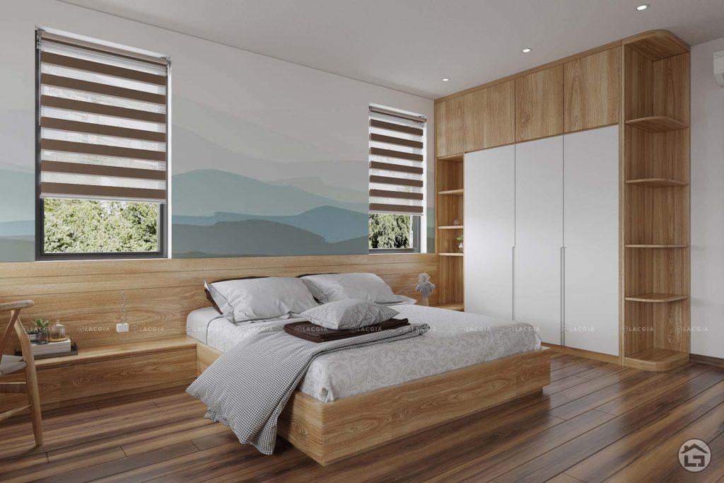 Màu xanh của cây lá sẽ giúp cho không gian phòng ngủ của bạn trở nên tươi mới hơn rất nhiều