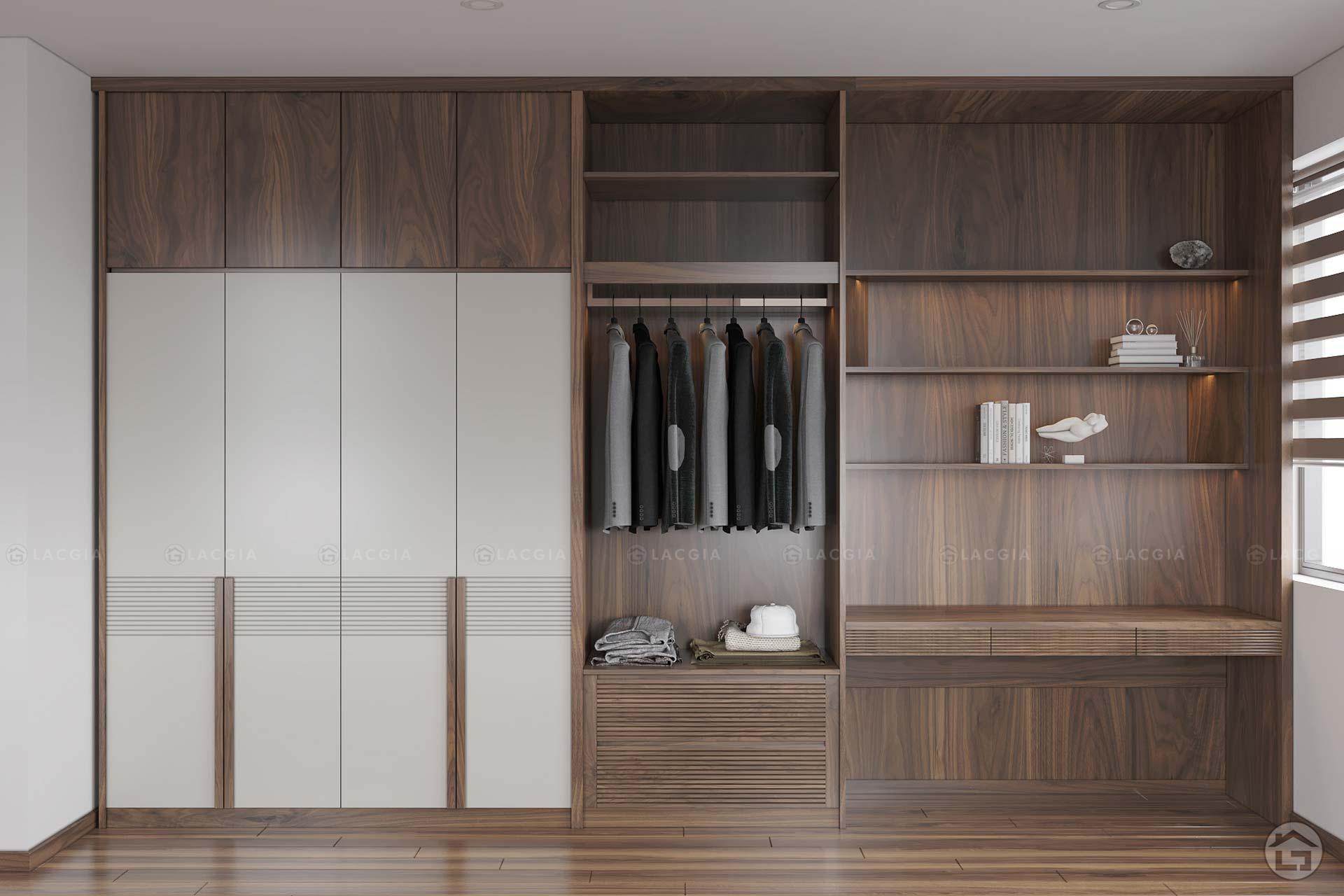 Sự tiện nghi và hiện đại của tủ quần áo gỗ tự nhiên