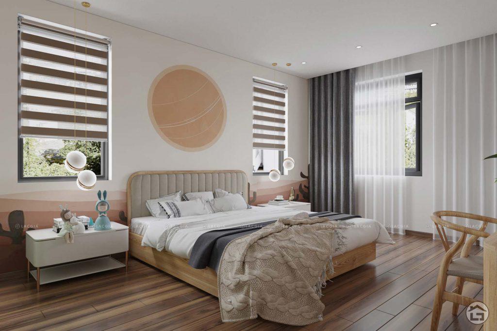 Tận dụng nguồn ánh sáng tự nhiên cho phòng ngủ của bé gái