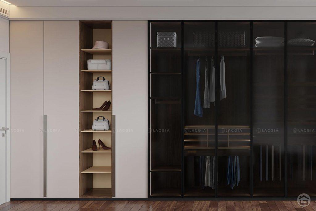 Tủ quần áo gỗ hiện đại đẹp TA22