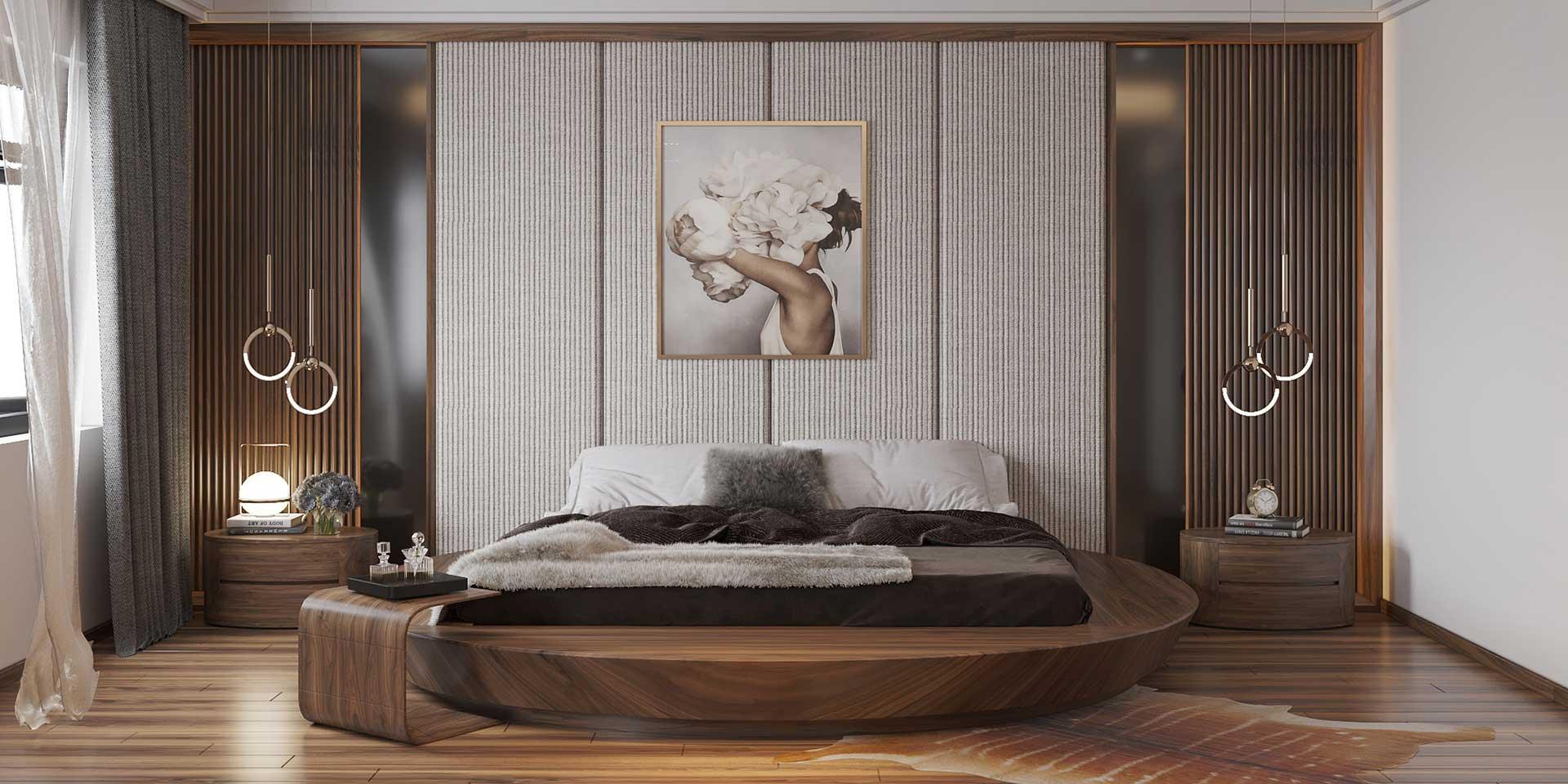 Thiết kế thi công nội thất gỗ óc chó - Nội Thất Lạc Gia