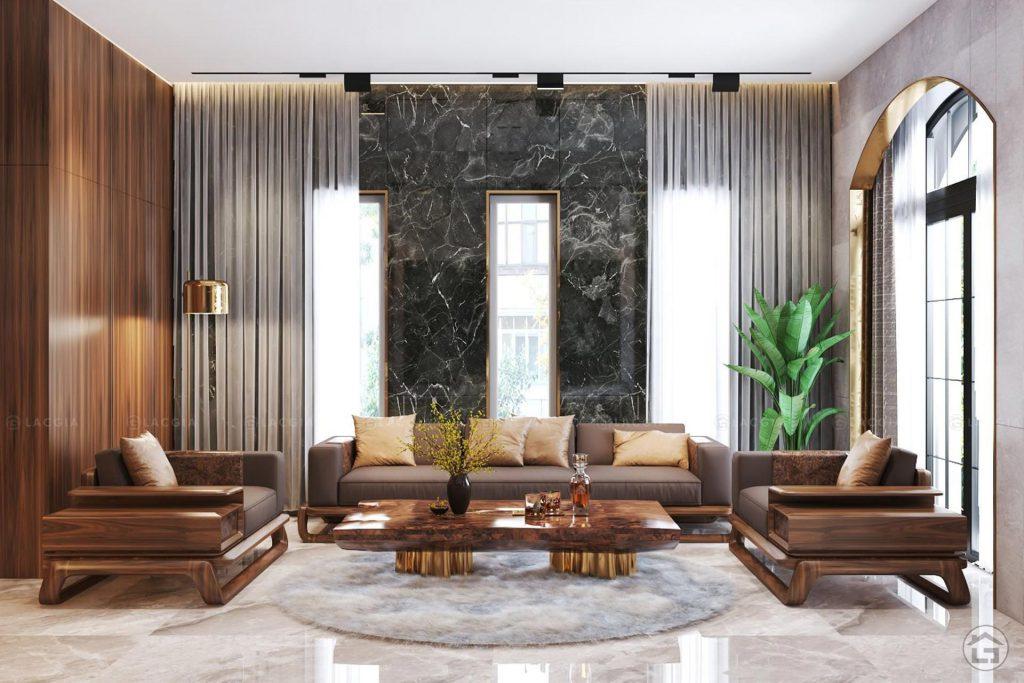 Sofa gỗ Hera sang trọng