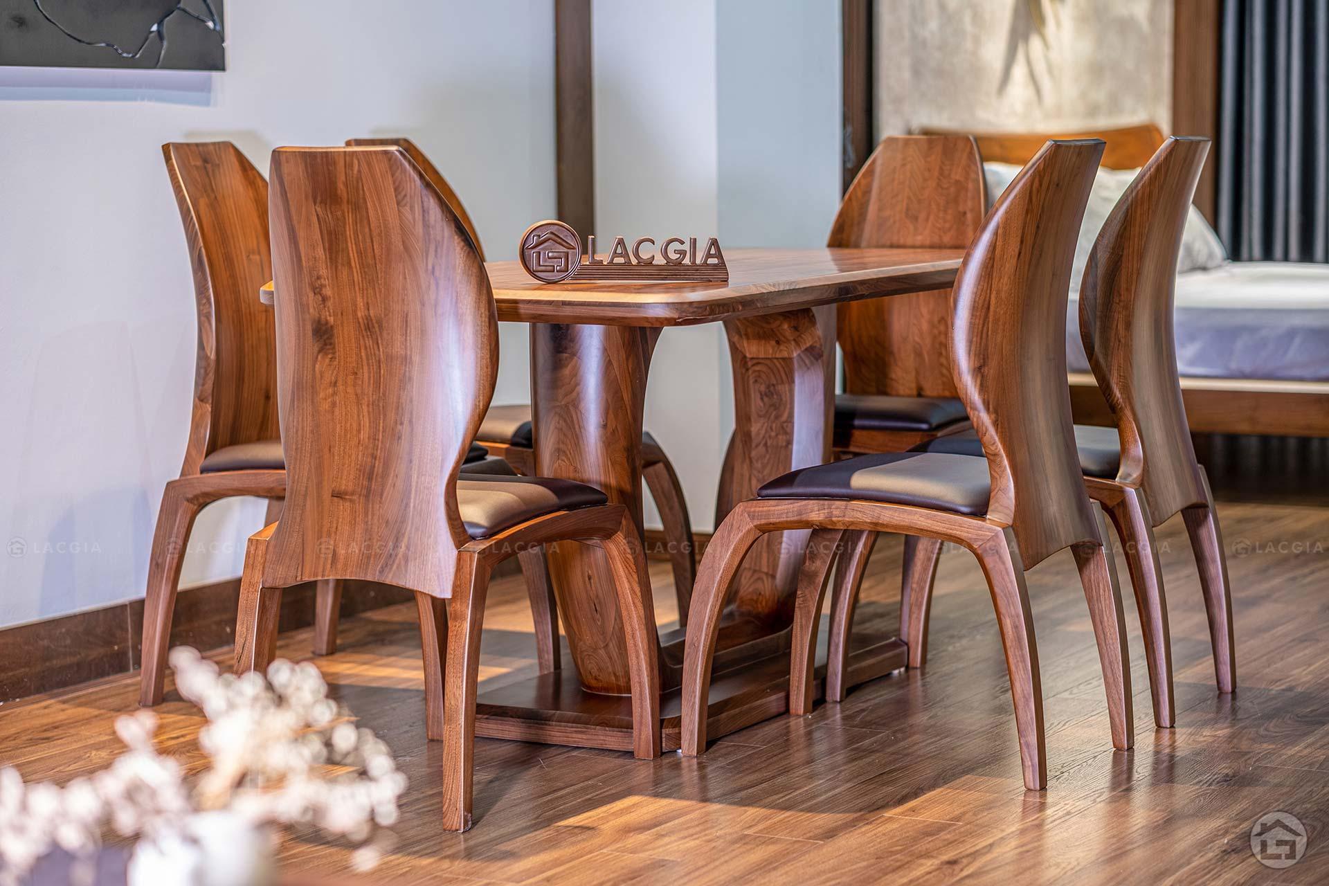 Bàn ghế ăn gỗ cao cấp BA21